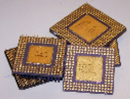 Elektronik Chips Scheidegut Gold