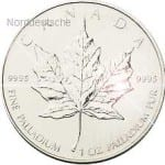Kanada Palladium Maple Leaf Muenze-1-Oz