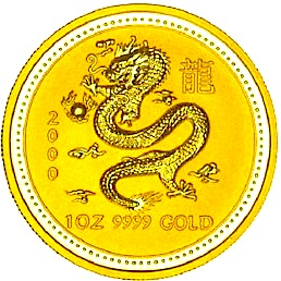Australische Goldmuenze Lunar Dragon