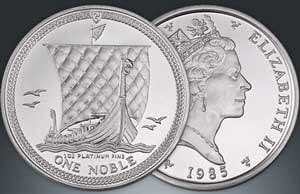 Isle Of Man One Noble Platinmuenze