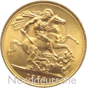 England Grossbritannien-Sovereign-Goldmuenze