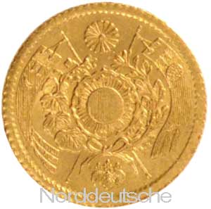 Japan 1 Yen Goldmuenze