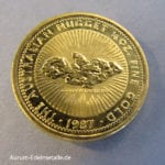 Golden Eagle Australien-Nugget-1_4-OZ-Goldmuenze-1987